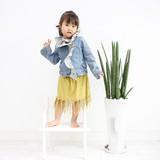 【再値下!】【ガール/キッズ/ママ】お揃い♪裾フリンジスカート☆