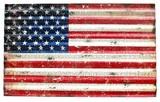 スチール看板 波板USAフラッグ