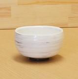 【有田焼】 黒土白刷毛 抹茶碗