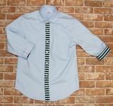 Border Switch Three-Quarter Length Shirt