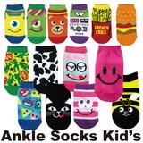 【靴下14種】アンクルソックスキッズ/靴下/子ども用/かわいい/エイリアン/スマイル/アーミー