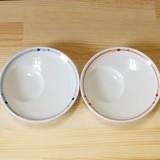 【有田焼】 帯水玉 しょうゆのすべり台 丸型 (小皿) (青/赤)