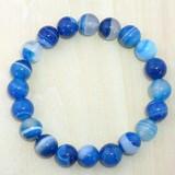 【30%OFF】【天然石ブレスレット】藍紋メノウ (10mm)ブレス【天然石 メノウ】
