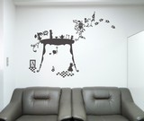 Wall art Alice  Largeサイズ(グレー)