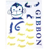 Wall art gibbon スイッチサイズ(ホログラムカラータイプ)