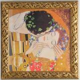 【イタリア製】額入り アートポスター ゴールド グスタフ・クリムト Gustav Klimt 【接吻】 The Kiss