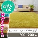 【直送可】【20色展開】EXマイクロラグマット<200×200cm>