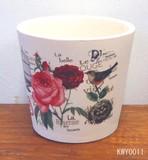 Spring Appreciation Planter Cover Rose Antique