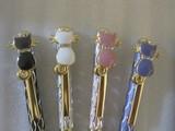 スワロフスキークリスタル 猫のボールペン