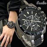 DUAL∞DESTINY[6色]カーボン仕上げ クロノグラフデザイン メンズウォッチ 腕時計