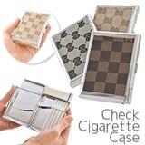 【喫煙/愛煙グッズ】チェック柄 タバコケース/ライター/たばこ/煙草/喫煙/シガレットケース/バレンタイン