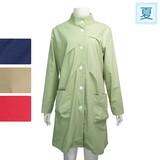◆在庫処分値下げ◆春夏物◆『ミセス』ストライプ配色ハイネックコート(M15110)