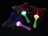 処分特価【光るおもちゃ】お祭り!光物の季節です!★フラッシュ うちわ 蝶々★