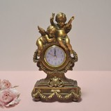 Gift Show Angel Table Clock Gold