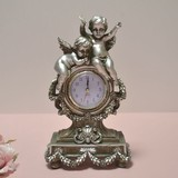 Gift Show Angel Table Clock Silver