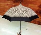 <リバーレースプリント>タッセル付き晴雨兼用傘