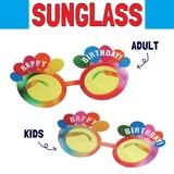 サングラス ハッピーバースデーバルーンレインボー * お誕生日パーティーに♪大人用、子供用あり!
