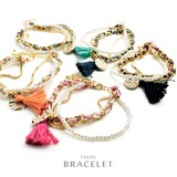 Triple Tassel Bracelet Exquisite Material Balance Pearl Tassel Weaving beauty