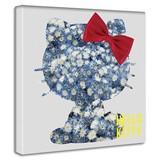 【ハローキティ】キティちゃんのファブリックボード インテリア アート 雑貨