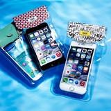 【5.5.インチスマートフォン】ファッション防水ポーチ カジュアル ビッグ