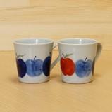 【有田焼】 りんご園 マグカップ (青/赤)
