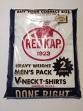 2015 Summer RED KAP V-neck Pack Short Sleeve T-shirt