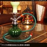 アラブの雰囲気満点のお洒落な喫煙具【パンプキンシーシャ(受け皿取り外し不可)】アジアン雑貨