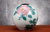 【九谷焼】8号花瓶 牡丹
