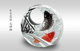 【九谷焼】6号花器 夫婦鯉