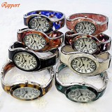 Design Oval Bangle Watch Deformation Silver Type