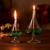 【クリスマス】 ツリー型ランプ(大)(小)+オイルセット(GIFTBOX付)