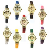 9 Colors Heart Sleeveless Shirt Heart Bangle Watch Ladies Wrist Watch