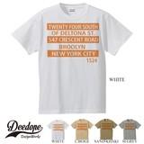 "【DEEDOPE】  ""TWENTY FOUR SOUTH OF DELTONA"" 半袖 プリント Tシャツ 綿100% カットソー"