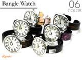 カラフルプラスティックバングルウォッチ レディース腕時計