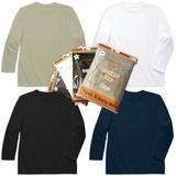 【スクール定番/AW】パッケージ入り無地長袖Tシャツ(100cm〜160cm)