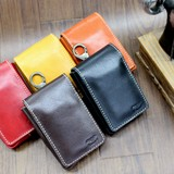 Leather Portable Ashtray Attached Cigarette Multi Case