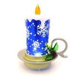 【GTS】 ミニバディ シルエットキャンドル ブルー <クリスマス>