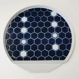 Arita Ware Tortoise Shell Half-Moon Plate