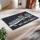 【直送可】【洗える玄関マット】アニマル柄 ラッキーモチーフ!フクロウ家族のイラストマット