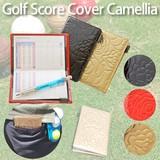 【ゴルフ用品】ゴルフスコアホルダー エナメルカメリア/赤/黒/ゴールド/スポーツ/レディース/母の日