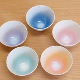 【有田焼】 レリーフ ティーカップ (ピンク結晶/オレンジ結晶/青結晶/グリーン結晶/紫結晶)