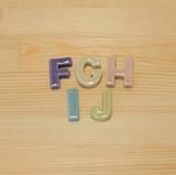 【有田焼】 アルファベット 箸置 (F/G/H/I/J)
