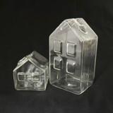 【インテリア・花器/ベース】小さなおうちのガラスのベース Glass Vase ハウス