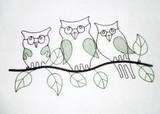 【インテリア・ウォールデコ】大好きアニマル! メガネ Owl Wall Deco +フクロウ