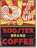 ブリキ看板 Rooster Coffee #58281