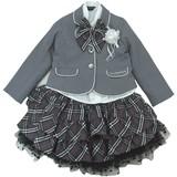 【フォーマル】女児 入学用3点スーツ★ジャケット+ブラウス+スカート