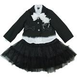 【フォーマル】女児 3点アンサンブル★ジャケット+ブラウス+スカート