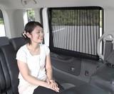 【日よけプリーツカーテン】車内紫外線60%カット 日よけ サンシェード