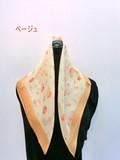 2017春夏新作)スカーフ シルクシフォン日本企画中国製小花柄小判スカーフ