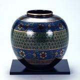 KUTANI Ware Size 6 Flower Vase Tortoise Shell